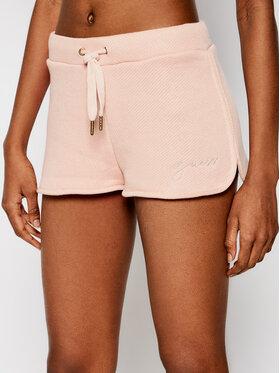 Guess Guess Bavlnené šortky O1GD01 FL03M Ružová Regular Fit