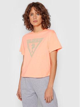 Guess Guess T-Shirt Caren O1BA70 JR06Z Pomarańczowy Relaxed Fit