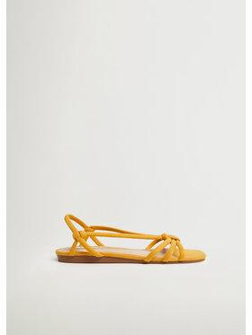 Mango Mango Sandały Knots1 87110064 Żółty