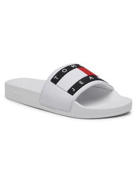 Tommy Jeans Tommy Jeans Klapki Flag Pool Slide EN0EN01378 Biały
