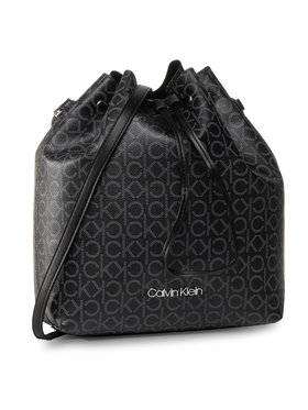 Calvin Klein Calvin Klein Дамска чанта Ck Mono Drawstring Md K60K606477 Черен