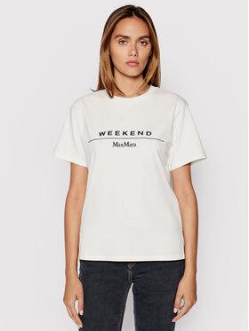 Weekend Max Mara Weekend Max Mara T-Shirt Navetta 59760319 Biały Regular Fit