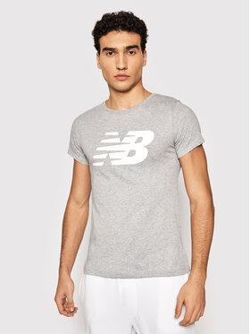 New Balance New Balance T-Shirt Nb Cl Fly NBWT0381 Szary Athletic Fit