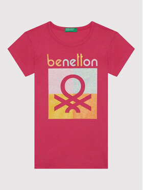 United Colors Of Benetton United Colors Of Benetton T-shirt 3096C1539 Rose Regular Fit