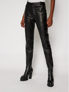LaMarque LaMarque Spodnie skórzane Morissa 5885 Czarny Regular Fit
