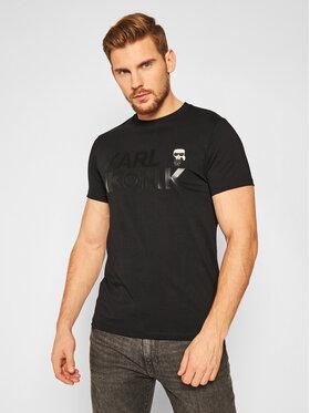 KARL LAGERFELD KARL LAGERFELD T-Shirt Crewneck 755046 502225 Černá Regular Fit