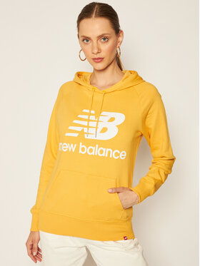 New Balance New Balance Pulóver Esse Po Hoodie NBWT03550 Sárga Relaxed Fit