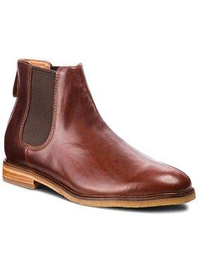 Clarks Clarks Kotníková obuv s elastickým prvkem Clarkdale Gobi 261362517 Hnědá