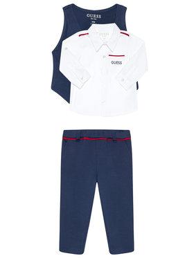 Guess Guess Komplet koszula, kamizelka i spodnie materiałowe Monaco Ponte & Oxford I0BG07 K9Q90 Kolorowy Regular Fit
