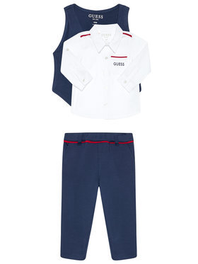 Guess Guess Komplet koszula, kamizelka i spodnie materiałowe Monaco Ponte & Oxford I0BG07 K9Q90 Цветен Regular Fit