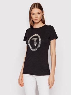 Trussardi Trussardi T-Shirt 56T00421 Czarny Regular Fit