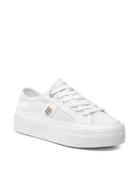 Tommy Hilfiger Tommy Hilfiger Sportcipő Th Mesh Vulc Sneaker FW0FW05793 Fehér