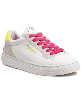 Pepe Jeans Pepe Jeans Sneakersy Adams 2.0 Girls Co PGS30492 Biały