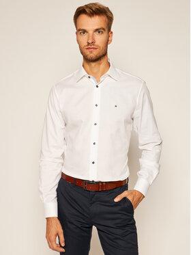 Tommy Hilfiger Tailored Tommy Hilfiger Tailored Koszula Dobby Classic TT0TT08200 Biały Regular Fit