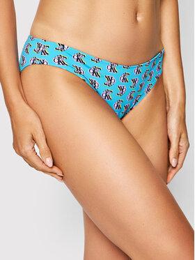 Calvin Klein Swimwear Calvin Klein Swimwear Dół od bikini Print KW0KW01417 Niebieski