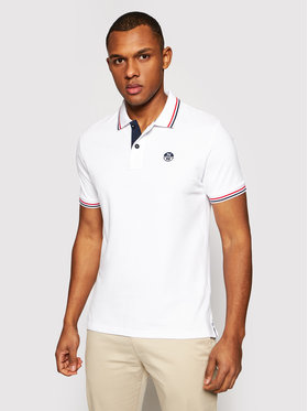 North Sails North Sails Polohemd W/Embroidery 692310 Weiß Regular Fit