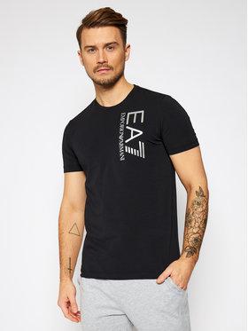 EA7 Emporio Armani EA7 Emporio Armani T-shirt 3KPT10 PJ7RZ 1200 Crna Regular Fit