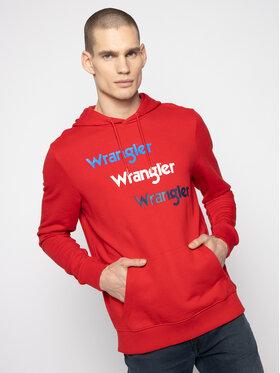 Wrangler Wrangler Felpa Repeat W6A8HAXWO Rosso Regular Fit