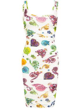 Versace Jeans Couture Versace Jeans Couture Sukienka letnia D2HVB439 Kolorowy Slim Fit