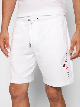 Tommy Hilfiger Tommy Hilfiger Szorty sportowe Essential MW0MW17401 Biały Regular Fit