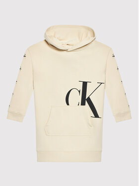 Calvin Klein Jeans Calvin Klein Jeans Každodenné šaty Mini Monogram IG0IG01029 Béžová Regular Fit