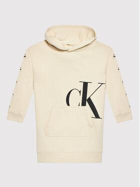 Calvin Klein Jeans Calvin Klein Jeans Kleid für den Alltag Mini Monogram IG0IG01029 Beige Regular Fit