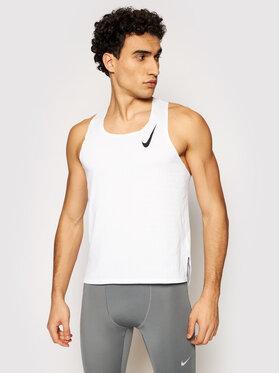 Nike Nike T-shirt technique Aeroswift Singlet CJ7835 Blanc Slim Fit