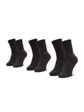 Nike Nike Sada 3 párů vysokých ponožek unisex CN0789 Černá