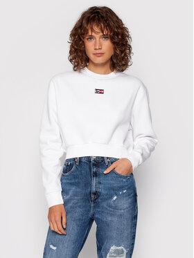 Tommy Jeans Tommy Jeans Pulóver Tjw Tiny DW0DW11051 Fehér Cropped Fit
