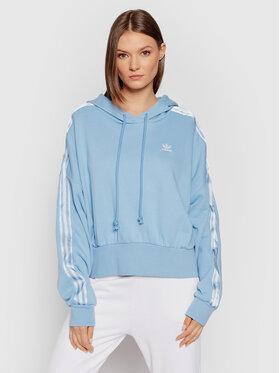 adidas adidas Bluză adicolor Classics Satin Tape H37813 Albastru Regular Fit