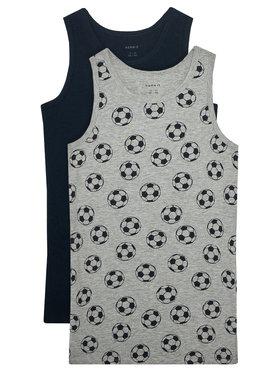NAME IT NAME IT 2 marškinėlių komplektas 13177800 Pilka Slim Fit