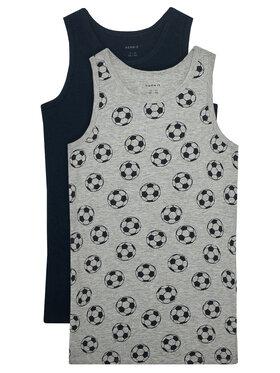 NAME IT NAME IT Комплект 2 блузи без ръкави 13177800 Сив Slim Fit