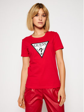 Guess Guess Tricou Original W0BI25 I3Z11 Roșu Regular Fit