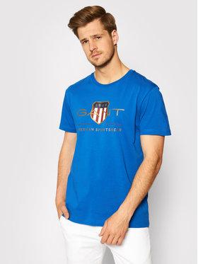Gant Gant T-Shirt Archive Shield 2003099 Niebieski Regular Fit