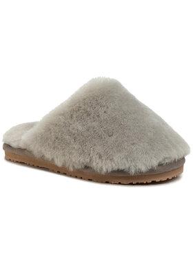 Mou Mou Pantofole Closed Toe Sheepskin Slipper Grigio