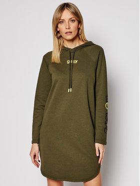 G-Star Raw G-Star Raw Sukienka dzianinowa Sleeve Print D19095-A613-723 Zielony Regular Fit