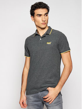 Superdry Superdry Polo Poolside Pique M1110013A Szary Regular Fit