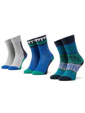 Tommy Hilfiger Tommy Hilfiger Súprava 3 párov vysokých detských ponožiek 100000813 Tmavomodrá