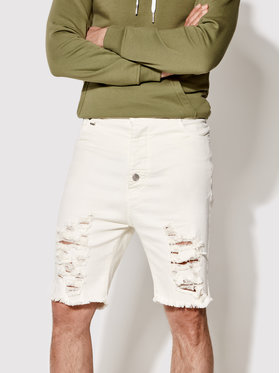 Rage Age Rage Age Szorty jeansowe Helicon 1 Beżowy Slim Fit
