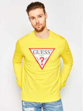 Guess Guess Bluză Audley M02Q37 K6ZS0 Galben Slim Fit