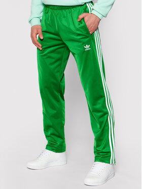 adidas adidas Sportinės kelnės Firebird Tp GN3520 Žalia Regular Fit