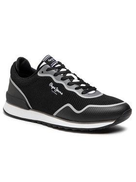 Pepe Jeans Pepe Jeans Sneakersy Cross 4 Knit PMS30706 Černá
