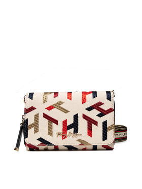 Tommy Hilfiger Tommy Hilfiger Handtasche Iconic Tommy Crossover Mono Embr AW0AW10116 Beige