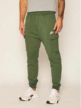NIKE NIKE Teplákové kalhoty Sportswear Club Fleece CD3129 Zelená Standard Fit