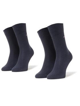 Tommy Hilfiger Tommy Hilfiger Súprava 2 párov vysokých ponožiek unisex 391334563 Tmavomodrá