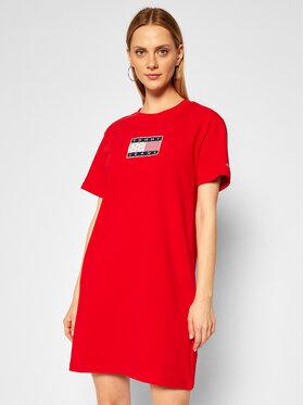 Tommy Jeans Tommy Jeans Každodenní šaty Tommy Logo Tee DW0DW08463 Červená Regular Fit