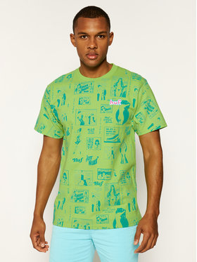 HUF HUF T-Shirt Tijuana Memories TS00995 Zielony Regular Fit