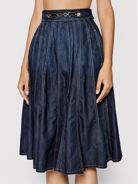 Elisabetta Franchi Elisabetta Franchi Jeans suknja GJ-15S-16E2-V305 Tamnoplava Regular Fit