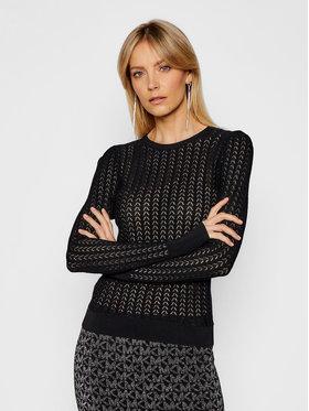 MICHAEL Michael Kors MICHAEL Michael Kors Пуловер Crochet Knit MH06PHFBFD Черен Regular Fit