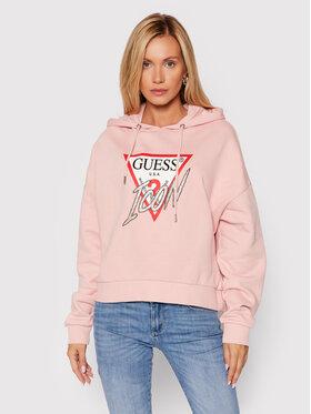 Guess Guess Džemperis Icon W1BQ09 K68I1 Rožinė Boxy Fit